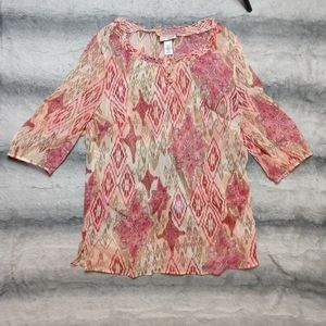 Multi Color Maggie Barns for Catherine Blouse